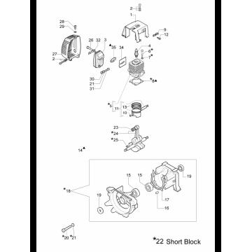 Шпонка коленвала мотокосы OLEO-MAC 746, 753, 755, EFCO 8460, 8550