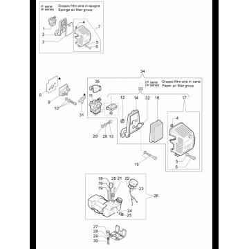 Бензобак мотокосы OLEO-MAC 746, 753, 755, EFCO 8460, 8550