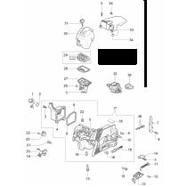 Крышка цилиндра для бензопилы OLEO-MAC 937, 941С, EFCO 137, 141