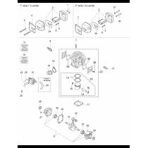 Винт крепления цилиндра бензопилы OLEO-MAC 947, 951, 952, EFCO 147, 151, 152