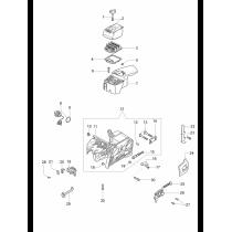 Крышка цилиндра бензопилы OLEO-MAC 947, 951, 952, EFCO 147, 151, 152