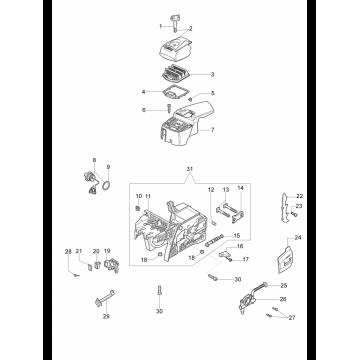 Винт крепления упора бензопилы OLEO-MAC 947, 951, 952, EFCO 147, 151, 152