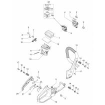 Ручка дуга бензопилы OLEO-MAC GS-35, EFCO MT-350