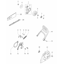 Ручка тормоза бензопилы OLEO-MAC GS-35, EFCO MT-350