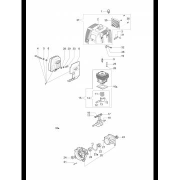 Коленвал мотокосы OLEO-MAC SPARTA 37 - 44, EFCO STARK 37 - 44