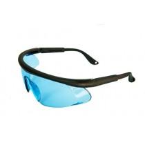 Очки защитные голубые для работы с бензопилой и мотокосой