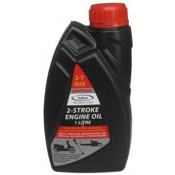 Масло моторное к бензопиле и мотокосе 2Т SABER