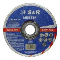 Круг отрезной по металлу и нержавеющей стали S&R Meister A 46 S BF 115x1,2x22,2