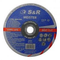 Круг отрезной по металлу и нержавеющей стали S&R Meister A 36 S BF 180x1,6x22,2